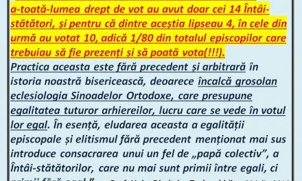 Declarația ortodoxă și antiecumenistă de la Chișinău – 22 iulie 2016