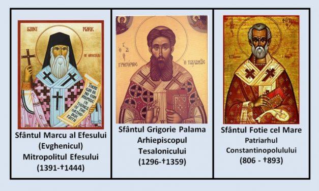 Sfinţii trei ierarhi cei noi – Marcu, Grigorie şi Fotie