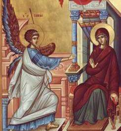 SINAXAR – 25 martie: Bunavestire a Preasfintei, Stăpânei noastre de Dumnezeu Născătoarei şi pururea Fecioarei Maria