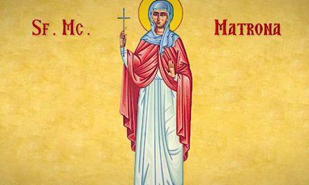 SINAXAR – 27 martie: pomenirea Sfintei Muceniţe Matrona, cea din Tesalonic (sec.III-IV)
