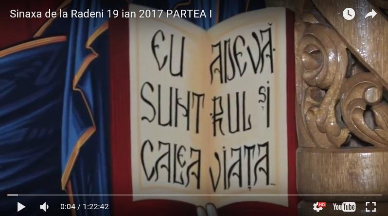 Sinaxa Preoților, monahilor și mirenilor ce s-au îngrădit de erezia ecumenismului. Rădeni 19 ianuarie 2017