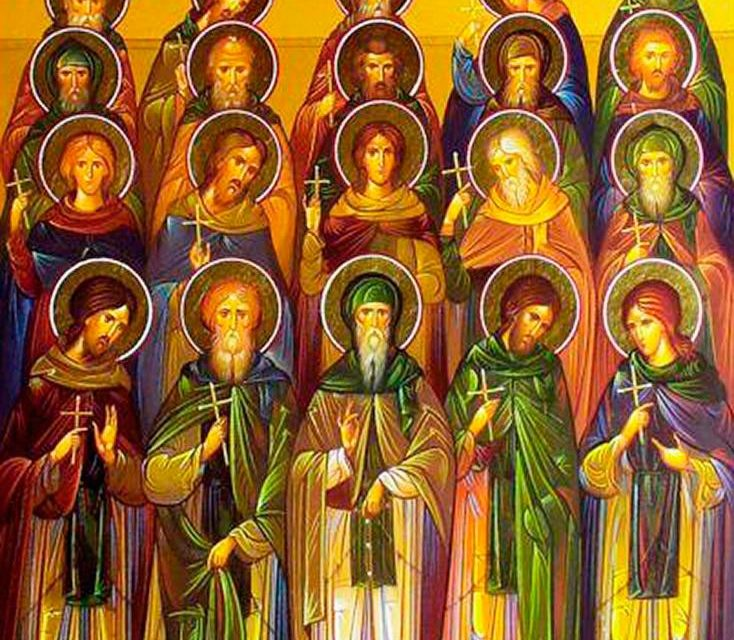 SINAXAR – 20 martie: pomenirea Sfinţilor, Cuvioşilor Părinţi: Ioan, Serghie, Patrichie şi cei dimpreună cu dânşii, ucişi de arabi, în mănăstirea Sfântului Sava Sfinţitul