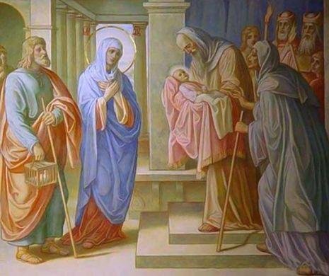 Luna februarie în 2 zile: Întâmpinarea Domnului nostru Iisus Hristos, când L-a primit pe El Dreptul Simeon în braţele sale.