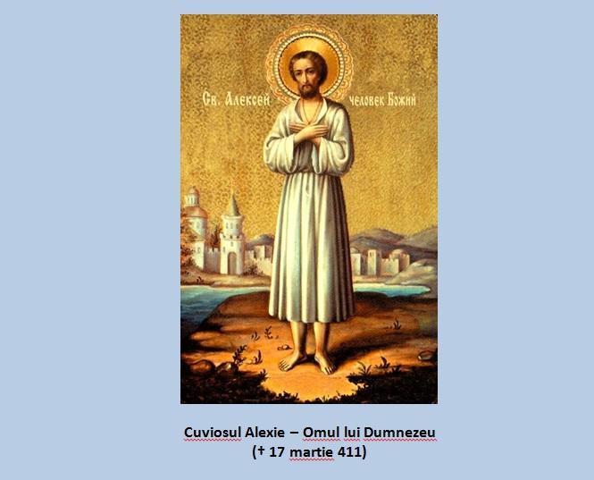 SINAXAR – 17 martie: pomenirea Cuviosului Alexie, omul lui Dumnezeu († 411)