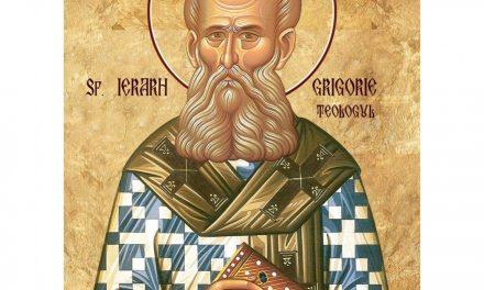 Luna ianuarie în 25 zile: Pomenirea celui între Sfinţi, Părintelui nostru Grigorie, de Dumnezeu Cuvântătorul, arhiepiscopul Constantinopolului