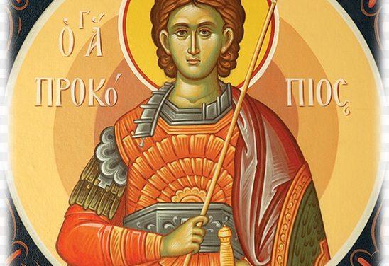 SINAXAR – 8 iulie: pomenirea Sfântului mare Mucenic Procopie (†303)