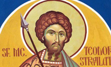 Luna februarie în 8 zile: pomenirea Sfântului, slăvitului marelui Mucenic Teodor Stratilat (†320)