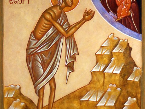 Luna lui aprilie în ziua dintâi, pomenirea Preacuvioasei maicii noastre Maria Egipteanca