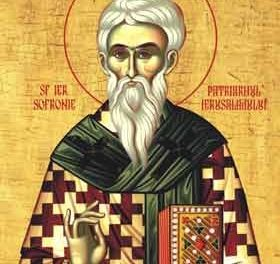 SINAXAR – 11 martie: pomenirea celui dintru Sfinţi, Părintelui nostru Sofronie, patriarhul Ierusalimului
