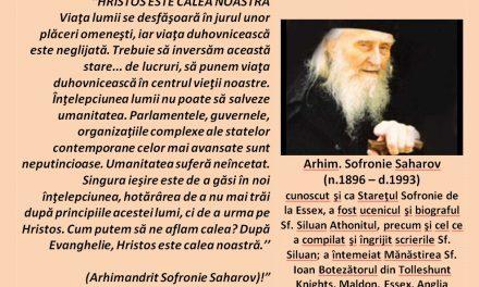 Arhim. Sofronie Saharov – HRISTOS ESTE CALEA NOASTRĂ.