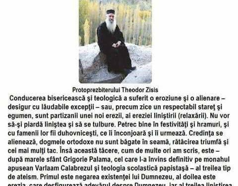 Protopresbiter Pr. Prof. Dr. Theodoros Zisis – despre erezia ecumenistă