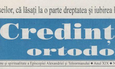 Revista Credința ORTODOXĂ nr. 217 – 3 pe martie 2015