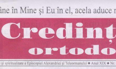 Revista Credința ORTODOXĂ nr. 226 – 12 pe decembrie 2015