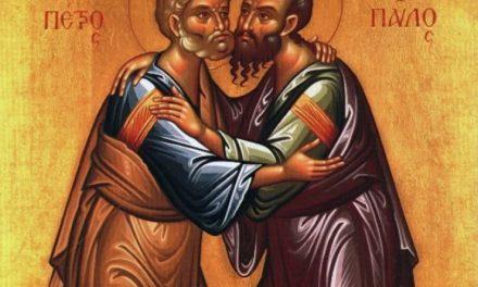 SINAXAR – 29 iunie: pomenirea Sfinţilor, slăviţilor şi întru tot lăudaţilor şi mai marilor Apostoli Petru şi Pavel (†67)