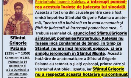 Sfântul Grigorie Palama, un sfânt anatematizat de papistaşi. Un sfânt antipapist şi delirul filopapist al ecumeniştilor.