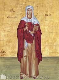 SINAXAR – 24 septembrie: Sfânta Mare Muceniță Tecla, cea întocmai cu Apostolii