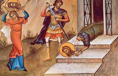 SINAXAR -29 august: pomenirea Tăierii cinstitului cap al Sfântului, Slăvitului Prooroc Ioan, Înaintemergătorul și Botezătorul Domnului.