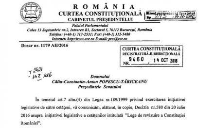 PASE CU 3 MILIOANE. Cine ar trebui să voteze propunerea legislativă de revizuire a Constituției. Ce a spus CCR și ce prevede legea fundamentală a României