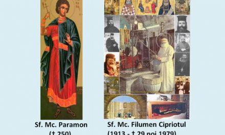 SINAXAR – 29 noiembrie: pătimirea Sfântului Mucenic Paramon și a celor împreună cu dânsul (†250) și pomeniea Sfântului Nou Mucenic Filumen Cipriotul († 29.11.1979)
