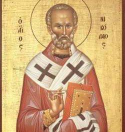 Luna decembrie în 6 zile: pomenirea celui întru Sfinţi, Părintelui nostru Nicolae, arhiepiscopul Mirelor Lichiei, făcătorul de minuni († 6 dec. 340)