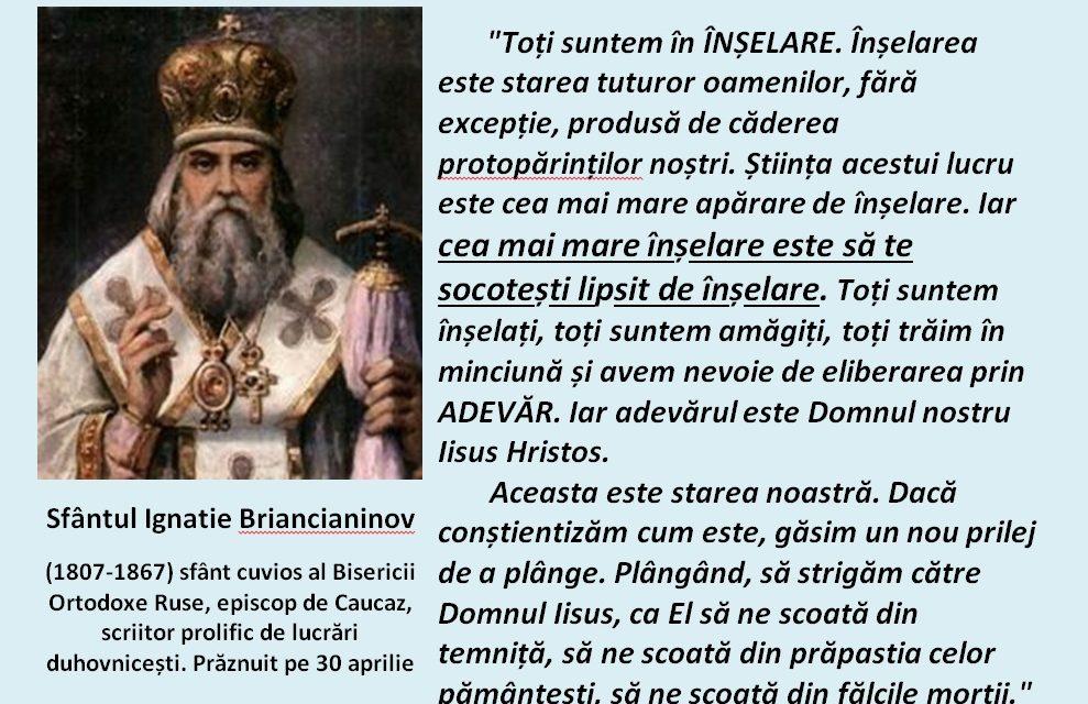 Sf. Ignatie Brianceaninov – Despre înşelare