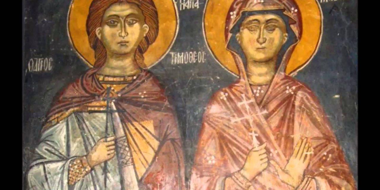 De luat aminte: DIAVOLUL în chip de ÎNGER DE LUMINĂ a ISPITIT-O chiar și după 9 zile de RĂSTIGNIRE / Pătimirea Sf. Mc. Timotei și a foarte tinerei lui soții, Mavra