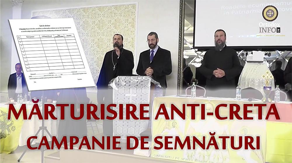 Campania de strângere de semnături în sprijinul Rezoluției Sinaxei Naționale a clericilor, monahilor și credincioșilor ortodocși nepomenitori