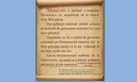 TRUPUL, SUFLETUL, PĂCATUL – Sf. Antonie cel Mare, Învățături despre viața morală