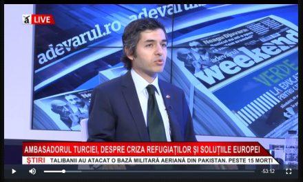"""Ambasadorul turc la Bucureşti: """"Moscheea nu mai este o chestiune bilaterală, ci naţională, a românilor. Ne vom retrage dacă poporul se opune"""""""