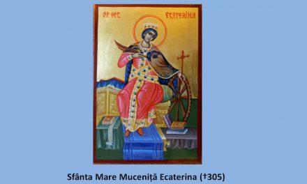 Sfânta Ecaterina, NErugându-se împreună cu ei, prin Har, a făcut din păgâni – mucenici