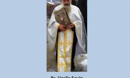 Pr. Vasile Savin – răspunsuri scurte la unele acuzații, inclusiv la cea de schismă, aduse preoților ortodocși români