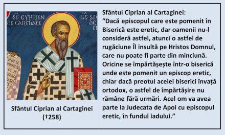 Sf. Ciprian al Cartaginei – despre pomenirea episcopului eretic