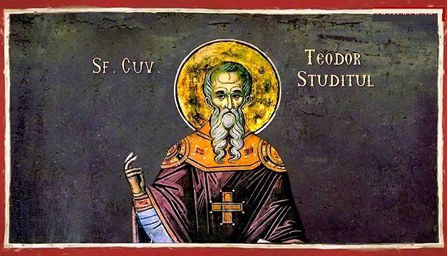"""Sfântul Teodor Studitul: """"Cine se împărtășește unde sunt pomeniți pseudo-episcopii, este vrăjmaș al lui Dumnezeu, chiar dacă e vorba de jertfa propriu-zisă a lui Hristos, să¬vâr¬şită de ereticii necondamnați."""""""