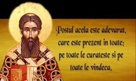 Postul Mare – Rugăciunea Sfântului Efrem Sirul
