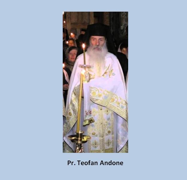 """Ieromonah Teofan Andone, Mănăstirea Petru Vodă: """"Nu mai întârzii a vă mărturisi dumneavoastră, întregii obști a mănăstirii, precum și tuturor celor ce vor citi aceste rânduri că socotesc """"adunarea cretană"""" ca fiind un sinod tâlhăresc, mincinos, ecumenist și eretic. Nu primesc și nu accept hotărârile și documentele elaborate acolo, mă scârbesc de ele și le lepăd ca fiind neortodoxe, viclene și pline de hule. Nu voiesc în niciun chip, să mă fac părtaș la toate acestea, ci doresc să mă delimitez și să mă depărtez clar, deplin și definitiv de orice aduce întinare credinței noastre ortodoxe celei dulci, smerite, prigonite și veșnice, precum și Bisericii dreptmăritoare strămoșești."""" SCRISOARE DESCHISĂ ADRESATĂ PREACUVIOSULUI ARHIMANDRIT HARITON NEGREA, STAREȚUL MĂNĂSTIRII """"SF. ARHANGHELI MIHAIL ȘI GAVRIL"""" PETRU-VODĂ, JUD. NEAMȚ- CTITORIE A PĂRINTELUI JUSTIN PÂRVU"""