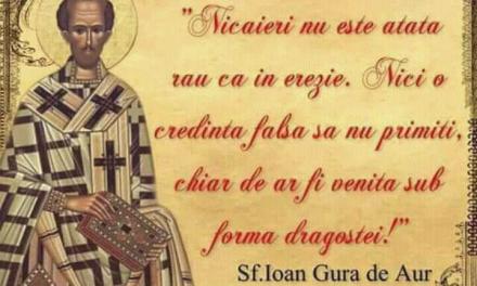 Ecumenismul = cea mai mare tiranie din istoria României