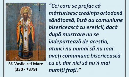 Sf. Vasile cel Mare – despre comuniunea cu ereticii