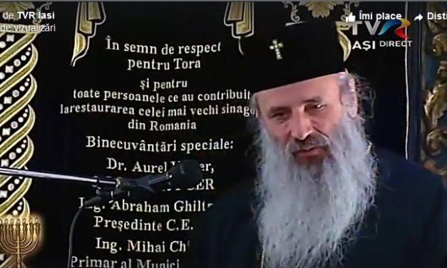 Pseudo-mitropolitul Teofan a participat și a ținut un discurs la reinaugurarea sinagogii mari evreiești din Iași – 3 decembrie 2018 (video)