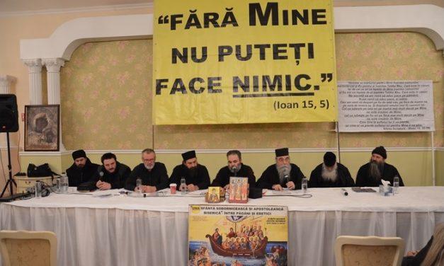 Conferința Părinților athoniți: Hristosul Ortodoxiei și hristosul fals al ecumenismului – București, 27 ian 2019