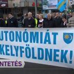 """Provocare: La Târgu Mureș s-a strigat """"Să piară Trianonul"""" și """"Autonomie"""""""