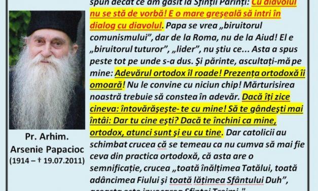 """NE VORBEȘTE PĂRINTELE ARSENIE PAPACIOC despre catolici, secte, pedeapsa cu moartea, răzbunare, Proscomidie… """"Rămâne un singur lucru: Adevărul!"""""""