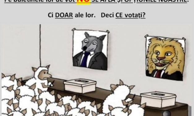 A VOTA înseamnă a legitima sistemul. Pe buletinele lor de vot NU se află și opțiunile noastre. Ci DOAR ale lor.