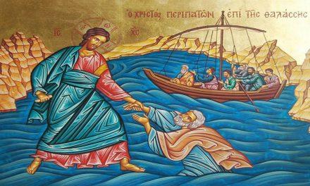 Predica Părintelui Andrei Cojoacă – Umblarea pe mare și Potolirea furtunii – 18 august 2019
