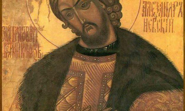 Sfântul ALEXANDRU NEVSKI, cel ce i-a zdrobit pe cavalerii Papei de la Roma (care-i cereau o unire spirituală care ar fi distrus credința ortodoxă)