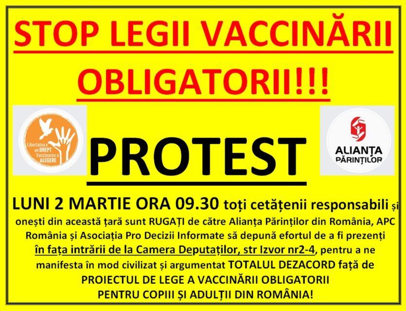 ALERTĂ!!! – Legea vaccinării obligatorii a tuturor (copii și adulți) este la un pas de adoptare în Parlament! Deșteaptă-te române din somnul cel de moarte!!!