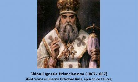 """""""Vremurilor noastre li s-a dat altă nevoinţă, însoţită de multe greutăţi şi poticniri… Să nu ne descurajăm! noi să mergem la Dumnezeu pe calea îngustă a ascultării faţă de Biserică şi de Sfinţii Părinţi."""" – Sf. Ignatie Briancianinov"""