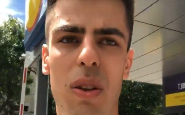 """CURAJ români! NU VĂ LĂSAȚI zombizați!  Tânăr de 24 ani, cu ATITUDINE DEMNĂ la supermarket: """"Nu suntem oi! Nu purtăm mască!"""""""