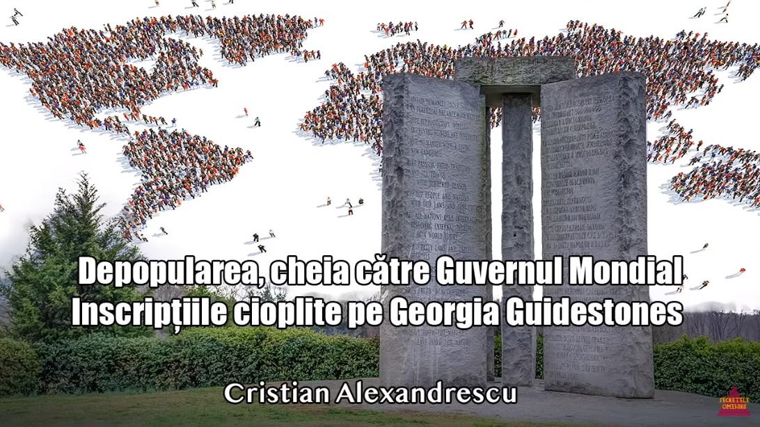 Depopularea – cheia către Guvernul Mondial – inscriptiile cioplite pe Georgia Guidestones