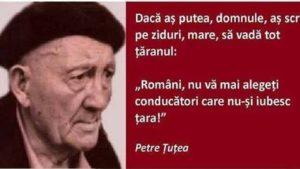 """DOCUMENTAR Petre Țuțea: """"Români, nu vă mai alegeți conducători care nu-şi iubesc ţara!"""""""