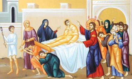 Predica Părintelui Andrei la Duminica a XX-a după Pogorârea Sfântului Duh – Învierea fiului văduvei din Nain – 18 octombrie 2020